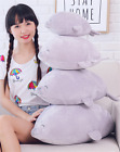 Cartoon Push Stuffed  Grey Seal Plush Pillow Toy  Lovely Toy For Kids