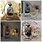 1pc Hollow Out Bird Cage Hanging Candle Holder Candlestick Lantern Wedding Decor