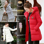 Hot sell Womens Winter Trench coat Ladies Hooded Long Warm Padded Jacket outwear