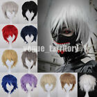 Unisex Anime Fashion Short Wig Cosplay Full Wigs Synthetic Hair Fancy Dress Pink