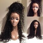 Brazilian Loose Curly Human Remy Hair Front Wigs Full Lace Wig Baby Hair