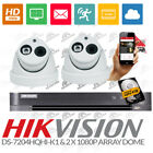 Hikvision 4Ch DS7204-HQHI-F1/N DVR HDMI P2P & 2x 2MP 1080P Array Dome Camera Kit
