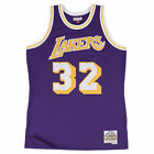 Magic Johnson Los Angeles Lakers Mitchell & Ness NBA Throwback HWC Purple Jersey on eBay