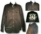 Men's Fashion Shirt HAMA Button Down Long Sleeve Back Logo Stylish Pocket Shirts