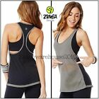 ZUMBA Loose Fitting Burn Out Tank Racerback Top Funked Up Perfect City Swag L XL