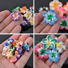 10pcs 15mm 20mm 30mm Mixed Lily Resin Spacer Loose Ceramic Beads Jewelry Making
