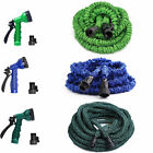 25FT-100FT EXPANDABLE FLEXIBLE GARDEN HOSE PIPE 3x EXPANDING & SPRAY NOZZLE LW