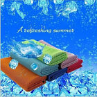Fitness Sport Outdoor Core Iced Cool Two-sides Cooling Snap Towel Cold Instant