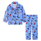 Pyjamas Girls Winter Cotton Flannel 2pc Pjs (Sz 3-7) Set Blue Dogs Poodles Sz 3