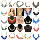 Women Statement Bib Chunky Chain Pageant Pendant Necklace Jewelry Lots Gift