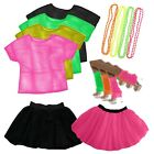 Ladies 1980's Fancy Dress Costume 80s Top Tutu Madonna Hen Night party outfit