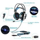 USB Vibration Gaming Headset Headband LED Luminous Headphone +Mic For PC laptop