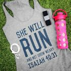 """RealChicksRule™ """"She Will Run and Not Grow Weary"""" Tank"""