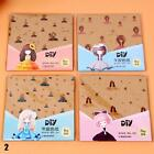 DIY Sheet Square Origami Folding Paper Craft Scrapbooking Kid with Scissors USDH