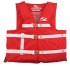 Adult Life Jacket Red Vest Boating Fishing Large Water Sports Adjustable Durable