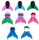 Kids Girls Mermaid Tails Swimmable Monofin Mono Fin Flippers Tools Swimming Pool