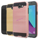 Brushed Texture Hybrid Dual Layer Shockproof Hard Shell Case for Samsung Phone