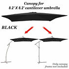 8'x8' Hanging Solar Patio Umbrella Replacement Canopy Parasol Top Cover Outdoor cheap