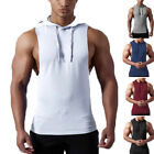 Gyms Men Hoodies Singlets Stringer Bodybuilding Fitness Sleeveless Sweatshirts