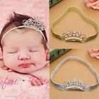 Girls Princess Pearl Crown Headband Hairband Toddler Baby Child Tiara Hair Band
