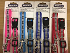 DOG COLLAR AND LEAD SET PUPPY SET BONE 0R PAW PRINT ADJUSTABLE COLLAR 4 COLOURS
