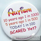 Autism Button Badges , scared yet