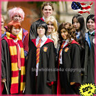 Unisex Harry Potter Cosplay Robe Cloak Cape Gryffindor Costumes +Tattoo Letter