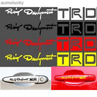 4PCS/Set Hollow For TRD Door Handle Stickers Reflective Personality Car Decals