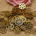 Many gear wheels, steam punk, old watch parts, pieces, old steam punk gear image