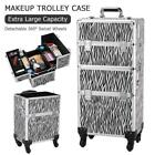 Professional 3 in 1 Makeup Vanity Travel Case Beauty Cosmetics Carry Box Trolley