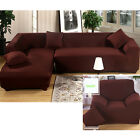 Coffee Color Furniture Covers Protector Anti-Mite Sofa Slipcover 1 2 3 4 seater