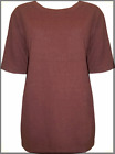 New Ladies Phase Eight Rust Red Raw Silk Short Sleeved Top in Women's UK 12 & 14