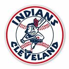Cleveland Indians Mascot Round Decal / Sticker Die cut