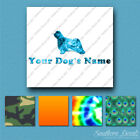 Custom Bearded Collie Dog Name Decal Sticker - 25 Printed Fills - 6 Fonts