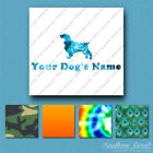 Custom Field Spaniel Dog Name Decal Sticker - 25 Printed Fills - 6 Fonts