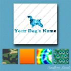 Custom English Cocker Spaniel Dog Name Decal Sticker - 25 Printed Fills  6 Fonts