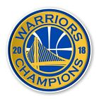 Golden State Warriors NBA Champions 2018 Round Decal / Sticker Die cut on eBay