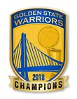 Golden State Warriors NBA Champions 2018 (Gold) Shield Decal / Sticker Die cut