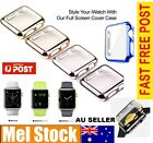 New Protective Case 38/42mm Plated Thin Metal PC Hard For Apple Watch iWatch