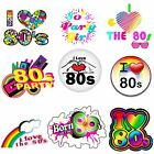 I Love80s Heart 80s Madonna Rapper Pop Star Adult Music Iron on T-Shirt Transfer