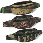 Camo Tree Leaves Leaf Fanny Pack Hunting Waist Belt Bag Camping Hiking Gear Pack