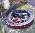 Leather Belt Larp Re-enactment Medieval Pagan Cosplay Costume Viking Pirate