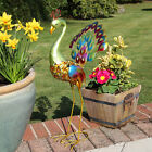SOLAR POWERED OUTDOOR GARDEN ORNAMENT PATH NOVELTY BIRD ANIMAL LED STAKE LIGHT