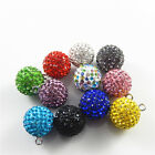 2 pcs Multi-colors Crystal Bola Bell Charm Earring Necklace Pendant Findings