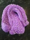 Floam Play Slime Putty Fluffy Homemade Stress Relief Purple /white Confetti  BC