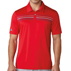 Adidas ClimaCool Chest Print Polo Shirt - Scarlet/Dark Slate