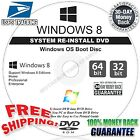 WINDOWS 8 ALL VERSIONS 32 64 Recovery Install Reinstall Restore DVD Disc Disk