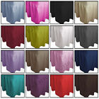 Plain Dyed Poly Cotton Fitted Valance Sheet, Bed Sheet Single,Double,King,S-King