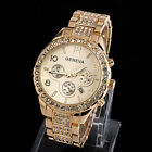 Women Fashion Luxury Crystal Quartz Geneva Watch Ladies Party Dress Wirst Watch