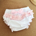 Baby Infant Girl Ruffle Bowknot Bloomers Shorts Diaper Nappy Cover Pants Bottoms